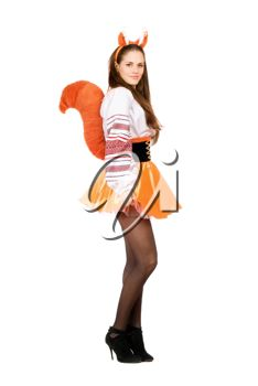 Royalty Free Photo of a Woman Dressed in a Funny Squirrel Costume  sc 1 st  Pinterest : squirrel costume for women  - Germanpascual.Com