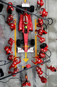 Pit stop Team #Ferrari  #F1 20 people for chance wheels, tune up vents and ad fuel