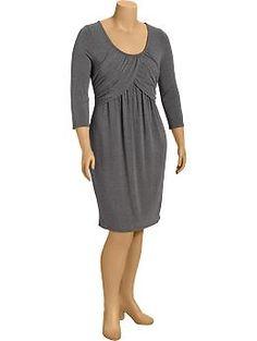 Womens Plus Tulip-Bodice Jersey Dresses