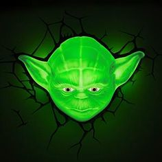 Star Wars Yoda LED Wall Light With Remote - Works as you would expect.This light FX that is ranked 168442 in the list of the top-selling products from Ama 3d Deco Light, 3d Light, Disco Lights, Led Wall Lights, Star Wars Lampe, Starwars, Meister Yoda, Star Wars Yoda, Yoda Lightsaber