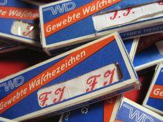 Alte Wäschezeichen zur Auswahl! - 50 St. von Principessa auf DaWanda.com