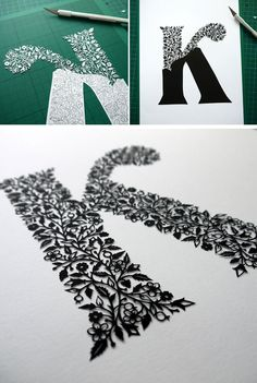 Letter K of paper. Famous contemporary art | DIY is FUN