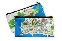 BRASIL MAP pencil case Back to school / Zipper pouch by efratul, $14.00