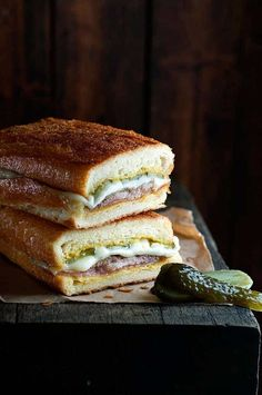 Cuban Pork Cubano Sandwiches from the Chef movie. This is the actual recipe created rockstar chef Roy Choi for the movie. Cuban Pork Sandwich, Sandwich Cubano, Sandwich Recipes, Deli Sandwiches, Delicious Sandwiches, Mojo Pork, Cuban Mojo, Recipetin Eats, Marinated Pork
