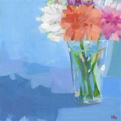 """Daily Paintworks - """"March of Hours"""" - Original Fine Art for Sale - © Heather Bennett Flowers Today, Carnations, Fine Art Gallery, Oil Paintings, Art For Sale, March, Ideas, Art Gallery, Oil On Canvas"""
