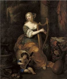 НЕТШЕР КАСПАР (NETSCHER CASPAR) (1639 - 1684) Portrait of Madame de Montespan with her infant son the Duc de Maine