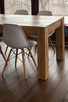 Oak table on Behance Dinning Table Design, Wooden Dining Tables, Oak Table, Rustic Table, Dinner Tables Furniture, Dining Furniture, Oak Dining Room, Behance, Carlisle