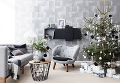 Black and white Christmas in Copenhagen, Islands Brygge