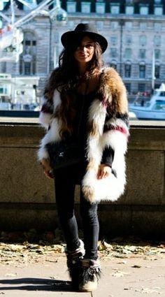 Style - Faux Fur. Gorgeous unusual faux fur. Brilliant for 2014 fashion trend.