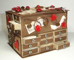 Sưu tầm hộp diêm làm thành tủ để đồ mini tiện lợi 13