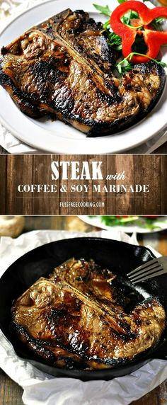 A unique combo of coffee and soy sauce in a steak marinade. Coffee is a natural meat tenderizer so you will end up with tenderized, tasty & flavourful grilled steak.