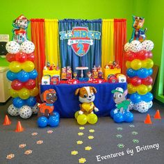 Graduation Party Decor Discover paw patrol party sign Skye and Everest colors pink/purple/teal Paw Patrol Birthday Decorations, Paw Patrol Birthday Theme, Paw Patrol Party Favors, 2 Birthday, 3rd Birthday Parties, Birthday Ideas, Paw Patrol Balloons, Creation Deco, Party Signs