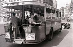 Eté 1955, ligne 67, Porte de Gentilly à la Place Pigalle, Paris.