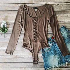 Link in bio to shop! ❤️ ✨ Lily Lattice Bodysuit shopdevi.com • #shopdevi