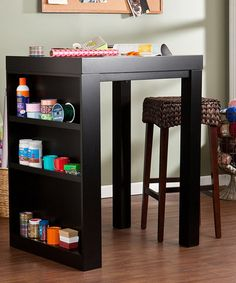 For the craft room. Espresso Holly & Martin Naples Bistro Desk by Southern Enterprises #zulily #zulilyfinds
