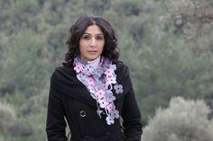 7DAY SHIPPING to US Women Crochet necklace Lariat by SENNURSASA, $23.50
