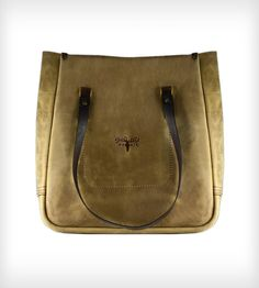 Light Brown Leather Utility Tote Bag