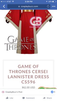 Game Of Thrones Cersei, Game Of Thrones Cosplay, Cersei Lannister, Games, Gaming, Plays, Game, Toys
