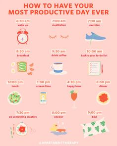 An Hour-by-Hour Roadmap to Your Most Productive Day Ever If your daily routine c. An Hourly Roadmap to Your Most Productive Day Ever If your daily routine could be tweaked a bit, you'll find a science-based template here. Wellness Tips, Health And Wellness, Health Fitness, Fitness Plan, Love Sweat Fitness, Wellness Plan, Fitness Facts, Good Habits, Healthy Habits