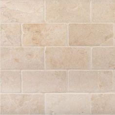 "Backsplash Crema Marfil Tumbled and Honed 3x6"" Subway Tile - products - atlanta - The Builder Depot"