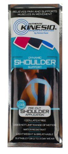 Kinesio Tex Pre-Cut Shoulder Application by Kinesio. $6.98. To supplement your patient care, Kinesio is releasing a limited collection of pre-cut applications. These are true Kinesio Taping applications that, as always, can be customized as needed. This is not a simple slap-on application or patch solution. In addition to providing handy packaging for your own professional use, as in the example of the lymphatic taping, Kinesio has chosen some of the most common and we...