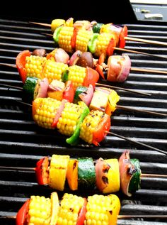 Grilled Corn on the Cob Skewers | 23 Delicious Skewers To Make This Summer