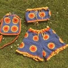 Diy Crochet Projects, Crochet Crafts, Knitting Projects, Sewing Projects, Crochet Crop Top, Cute Crochet, Knit Crochet, Crotchet, Crochet Clothes