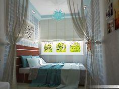 Маленькая спальня? Не беда - 30 дизайн идей в фото |  #дизайн #интерьер #кровать #спальня Красота