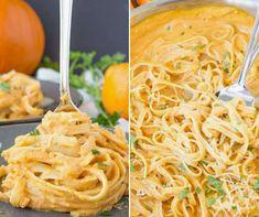 Sütőtökös tészta Vegetarian Recipes, Healthy Recipes, Spaghetti, Food And Drink, Baking, Drinks, Nap, Ethnic Recipes, Kitchen