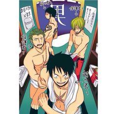 Luffy Zoro Sanji Monster Trio Mugiwaras Trafalgar D Water Law One Piece