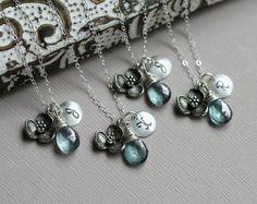 @PerfectWedding loves these unique charm necklaces for bridesmaids!