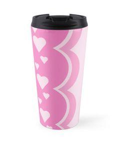 Hearts Travel Mug #hearts #pink #love #cute #design