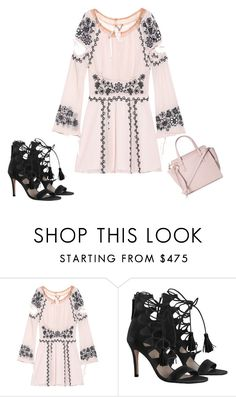 """""""Untitled #5294"""" by browneyegurl ❤ liked on Polyvore featuring For Love & Lemons, Zimmermann and Salvatore Ferragamo"""