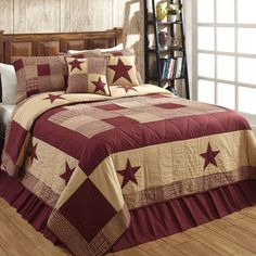 JAMESTOWN Burgundy and Tan Quilted Bedding Set - Available in Twin,Queen,King and Luxury King Our hand quilted
