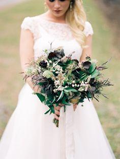 Autumn Bridal Bouquet // Photography ~ Live View Studios