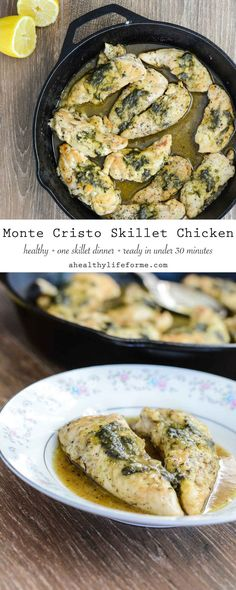 Monte Cristo Skillet Chicken is an easy, delicious weeknight dinner that is ready in 30 minutes. - A Healthy Life For Me