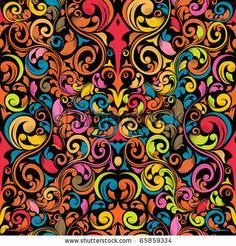 funky seamless pattern by Kundra, via ShutterStock