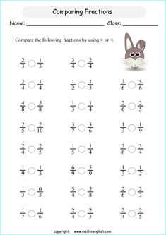 comparing fractions worksheets - Google Search | Maths Support ...