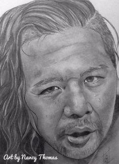 Title: Shinsuke Nakamura Artist: Nancy Thomas Dimension: 9x12 Medium: Graphite on Bristol, 100lb nythomas.com