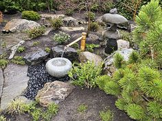 Zen Japanese Garden Ornaments Gallery - Water Garden Basin - Tsukubai - Ornaments