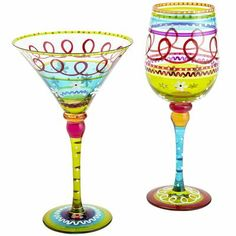 Spring Festive Stripe Stemware - - PIER 1.  If you wanna buy me a gift, I will always accept these :)
