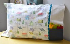 DIY Pillow with Pocket Sewing Tutorial