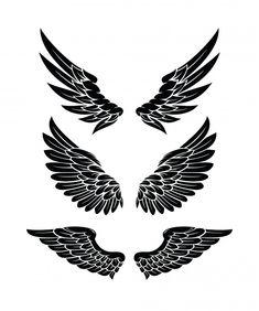 Conjunto de coleções de asas | Vetor Premium Eagle Wing Tattoos, Wing Tattoo Men, Wing Tattoo Designs, Alas Tattoo, Tattoo Set, Chest Tattoo, Neck Tattoo For Guys, Tattoos For Guys, Tribal Wolf Tattoo