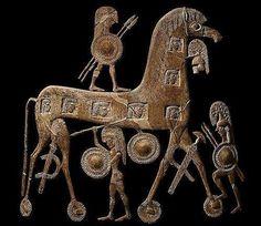Троянский конь. На вазе. 6-7 век до н.э.