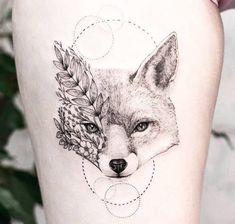 Fox Tattoo Fox tattoo for girls. More tattoos Fox Tattoo Design, Graphic Design Tattoos, Tattoo Designs, Finger Tattoos, Body Art Tattoos, Sleeve Tattoos, Mini Tattoos, Small Tattoos, Tattoo Geometrique