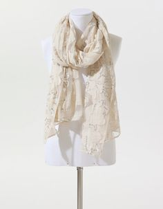 MADE BY HAND EMBROIDERED AND SEQUINNED SCARF - Accessories - Woman - New collection - ZARA United States