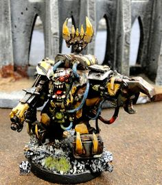 Spikey Bits Warhammer 40k, Fantasy, Conversions, Painted Minatures, News, Rumors, Tabletop Gaming,: Orky Goatboy Warboss- Army of One