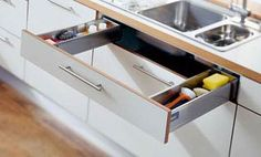 Blum Sink Pull-Out -- Great idea for under the sink...