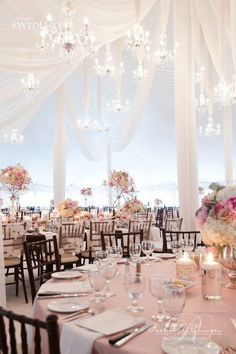 Jaw-Dropping Gorgeous Wedding Flower Ideas / http://www.deerpearlflowers.com/wedding-tent-decoration-ideas/