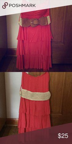 Cute casual strapless dress This is a cute coral strapless dress No brand Dresses Strapless